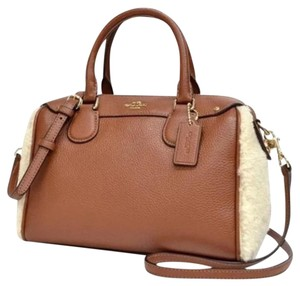 Coach Satchel in Imitation gold/saddle/natural