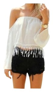 Fancy Girls Bling Top White