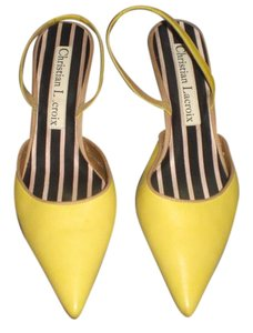 Christian Lacroix Slingbacks YELLOW Pumps