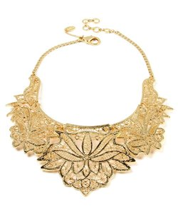 Gorgeous Intricate Gold Bib Necklace