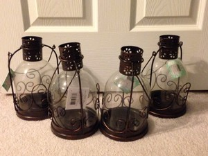 Four Lantern-style Candle Holders