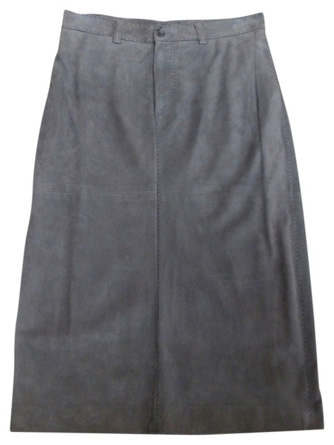 Ralph Lauren Luxury Suede Skirt Grey