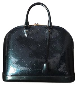 Louis Vuitton Alma Vernis Gm Satchel in Deep Green