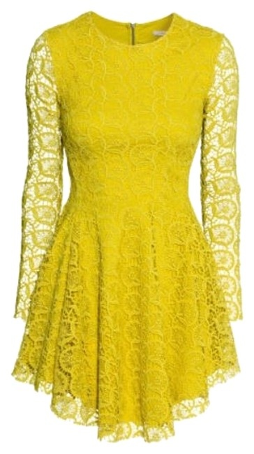 Item - Yellow-chartreuse 55-5942 Above Knee Night Out Dress Size 2 (XS)