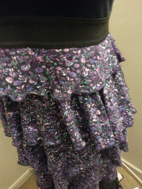 Express short dress Black with Purple Floral on Tradesy