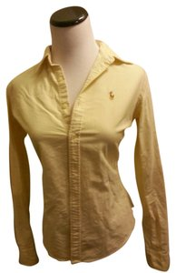 Ralph Lauren Button Down Shirt Yellow Striped