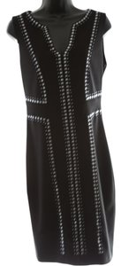 Joseph Ribkoff Studded V-neck Knee Length Dress