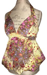 Tracy Reese Spring Summer Mixed floral Halter Top