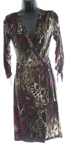 Joseph Ribkoff Paisley Animal Print Wrap Dress