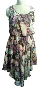 Eyeshadow short dress Multicolor Butterfly Romantic Summer Spring Hemline on Tradesy