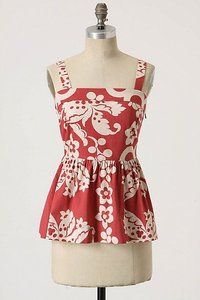 Anthropologie Top Red/White