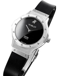Hublot Hublot MDM Ladies Rubber Bracelet Watch - Stainless Steel