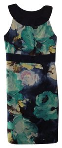 Merona Floral Abstract Fitted Dress