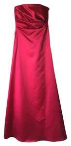 Michelangelo Red Formal Bridesmaid/Mob Dress Size 2 (XS)