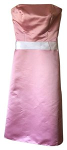 Bill Levkoff Pink Formal Bridesmaid/Mob Dress Size 4 (S)