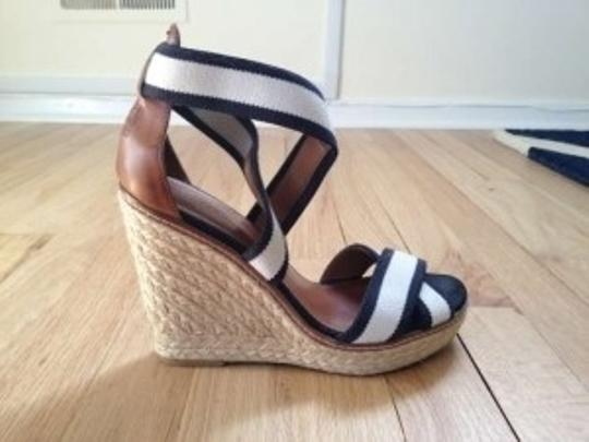 Tommy Hilfiger White with black trim Wedges