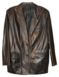 Athos Leather Italian Dark Brown Leather Jacket