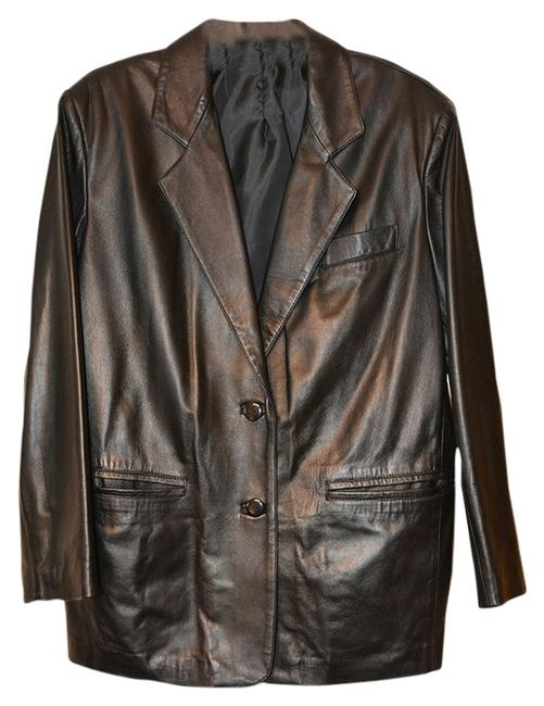 Athos Italian Dark Brown Leather Jacket