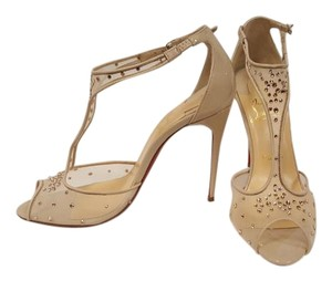 Christian Louboutin Jeweled Mesh Wedding Brandnew Nude Sandals