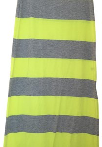 The Limited Maxi Skirt Gray and lime green