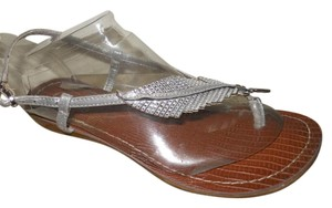 Carlos by Carlos Santana Thong Rhinestone Wedge silver Sandals