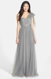 02507c8588c Jenny Yoo Sterling Grey Tulle Annabelle  1452 Formal Bridesmaid Mob Dress  Size 4 (