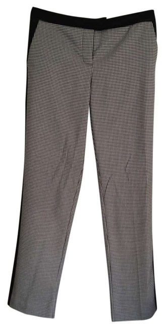 Vince Camuto Straight Pants Black with checkered pattern