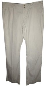 Banana Republic Khaki Summer Beige White Trouser Pants White Beige