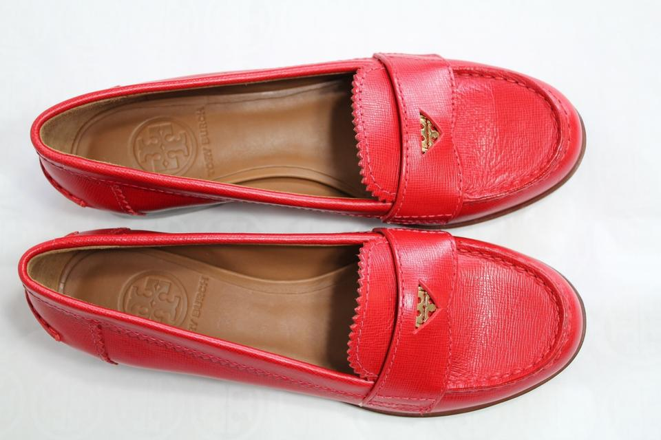 56f290559af Tory Burch Penny Loafers Loafers Red Flats Image 11. 123456789101112