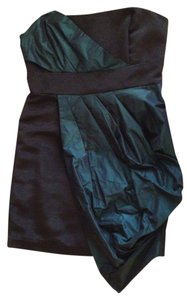 BCBGeneration Green Black Holiday Party Dress