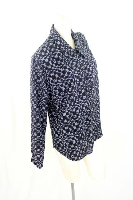 Other Button Down Shirt Black and Lavender