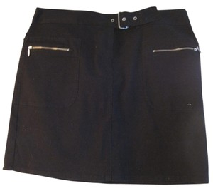 Ann Taylor LOFT Mini Skirt BLACK