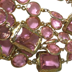 Chanel Authentic Vintage 1981 CHANEL Light Pink Crystal Runway Necklace, Sautoir