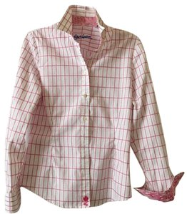 Robert Graham Flower Fitted Button Down Shirt Pink plaid