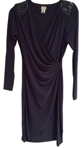 Cache Beaded Draped Dinner Dress