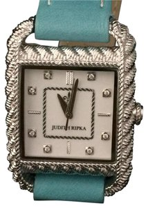 Judith Ripka Judith Ripka Stainless Steel and Leather Strap Watch