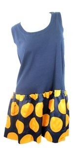 Marc Jacobs short dress Navy Blue & Yellow on Tradesy