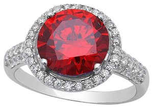 9.2.5 gorgeous garnet and white sapphire royal halo cocktail ring size 8