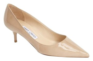 Jimmy Choo Pointed Toe Aza Kitten Heel nude Pumps