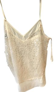 BCBGeneration Sequin Top White