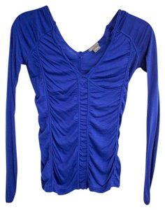 A|X Armani Exchange Bright Gathered Bodycon Longsleeve Top Royal Blue