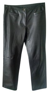 Modal of New York Boot Cut Pants Black Leather