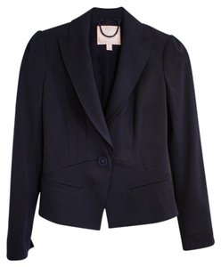 Rebecca Taylor Ribbon Jacket Suit Dark Navy Blue Blazer