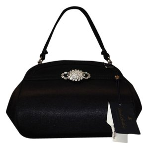 Brooks Brothers Satin Party Night Out Crystal Satchel in Black and Crystals