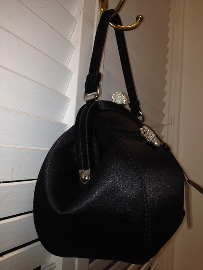 Brooks Brothers Satin Party Night Out Elegant Satchel in Black and Crystals