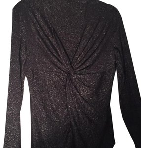 Lafayette 148 New York Top Black and silver