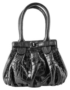 Zagliani Mini Python Hobo Bag