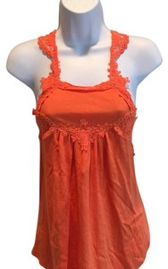 Free People Top Neon Orange