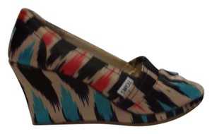 TOMS Multi-color (black, red, turquoise, beige) Wedges