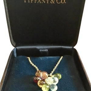 Tiffany & Co. Tiffany & Co Gem Set Cluster Pendant Necklace